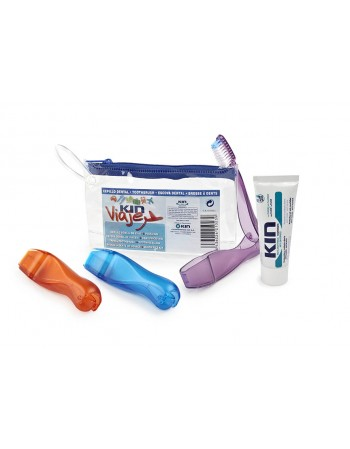 MINI KIT KIN VIAGEM COM CREME DENTAL KIN ALOE 7G